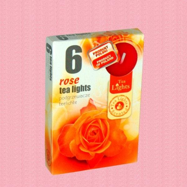 Lumanari Parfumate Trandafiri 6 buc