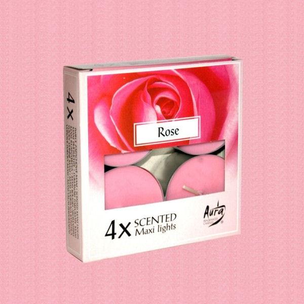 Lumanari Parfumate Trandafiri Rosii 4 buc